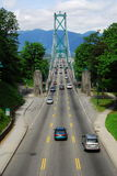 Lions gate bridge in vancouver Stock Photos
