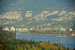 Lions Gate Bridge, Vancouver, BC, Canada Royalty Free Stock Photography