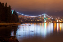 Lions Gate Bridge - Vancouver, Canada Royalty Free Stock Photos