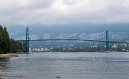 Lions Gate Bridge in Vancouver Royalty Free Stock Images