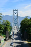 Lions Gate Bridge Vancouver. Photo taken from Stanley park royalty free stock photos