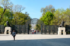 The lions gate entrance to the Chapultepec Park in Mexico City Royalty Free Stock Images
