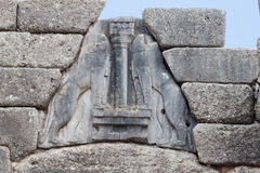 The Lions Gate in Mycenae Stock Images