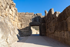 Lions gate, Mycenae, Greece Stock Images