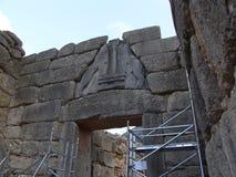 Lions Gate in Mycenae, Greece  Royalty Free Stock Photo