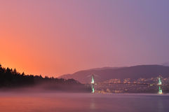 Lions Gate Sunset after a rain storm Royalty Free Stock Images