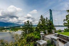 Lions Gate Suspension Bridge Royalty Free Stock Photography