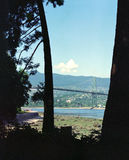 Lions Gate Vancouver BC Canada. Lions Gate Bridge spans the entrance to Vancouvers harbor Royalty Free Stock Image