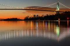 Lions Gate, Vancouver, Dawn Stock Photos