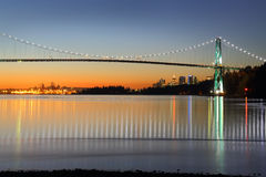 Lions Gate Winter Dawn, Vancouver Stock Photos