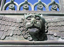 Lions Head. On a steel gate Stock Image