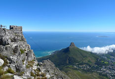 Lions Head and Cape Town, South Africa, view from the top of Table Mountain Stock Photo