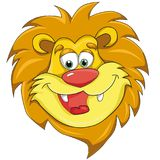 Lions head. Cartoon style. image on white background. Clip art for children royalty free illustration