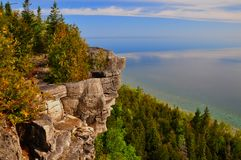Lions Head lookout, Bruce Trail, Ontario royalty free stock photography