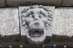 Lions Head - over the entrance to the grotto. Manor Kushelev-Bezborodko. Saint Petersburg Royalty Free Stock Photo