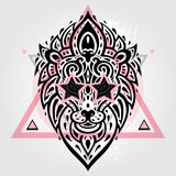 Lions head. Tribal pattern Royalty Free Stock Photos