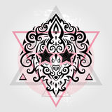 Lions head. Tribal pattern Royalty Free Stock Image