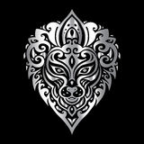 Lions head. Tribal pattern. Stock Images