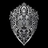 Lions head. Tribal pattern. Stock Photography