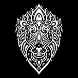 Lions head. Tribal pattern. Stock Image