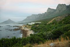 Lions head and twelve apostles near Camps Bay Stock Photo