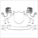 Lions, , heraldry, crest, shield,  Stock Image
