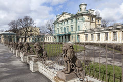 29 lions near the manor Kushelev-Bezborodko. St. Petersburg. Royalty Free Stock Photo