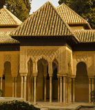 Lions Patio, Alhambra Granada Spain. Sunset in Lions Patio Alhambra Granada Spain Stock Image