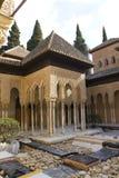 Lions patio, Alhambra, Grenade, Espagne Images libres de droits