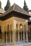 Lions patio, Alhambra, Grenade, Espagne Images stock