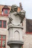 Lions Pole Bruges, Belgium Stock Photos