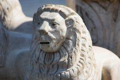 Lions Sculptures in the garden - Africa. Sculptures in the garden - Egypt - Africa royalty free stock photos