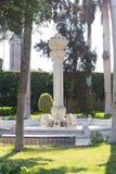 Lions Sculptures in the garden - Africa. Sculptures in the garden - Egypt - Africa stock photo