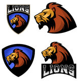 Lions. Sport team or club logo template. Stock Photo
