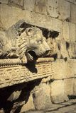 Lionshead waterspout. Temple of Jupiter,Baalbek, Lebanon Stock Images