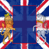 lionunicorn royaltyfri illustrationer