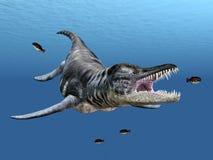 Liopleurodon. Computer generated 3D illustration with the marine reptile Liopleurodon Stock Photos