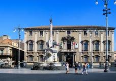 Liotro, monumento del obelisco, Catania Fotos de archivo libres de regalías