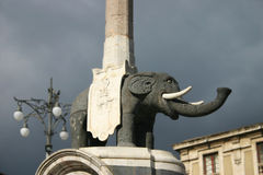 The Liotru elephant sculpture, symbol of Catania in Sicily royalty free stock image