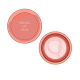 Lip balm. In cartoon style. Vector illustration. Organic cosmetic Stock Photo
