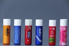 Lip balms, copy space royalty free stock image