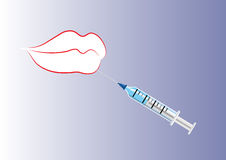Lip and botox or fillers injection Stock Images
