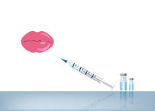 Lip and botox or fillers injection Royalty Free Stock Photo