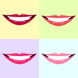 Lip collection Royalty Free Stock Photo