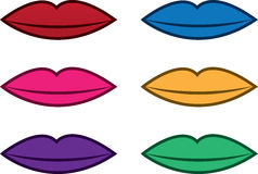 Lip Colors Royalty Free Stock Photos