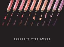 Lip gloss black banner Stock Images