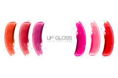 Lip Gloss Colorful Swatches Royalty Free Stock Photos