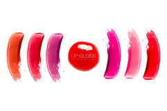 Lip Gloss Colorful Swatches Stock Photo