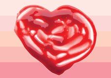 Lip Gloss heart shaped illustration Royalty Free Stock Images