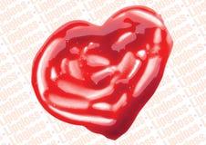 Lip Gloss heart shaped illustration Royalty Free Stock Photography